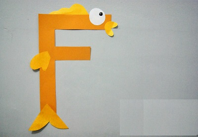 fish letter f craft Preschool Crafts