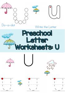 free-Preschool-Letter-u-worksheets