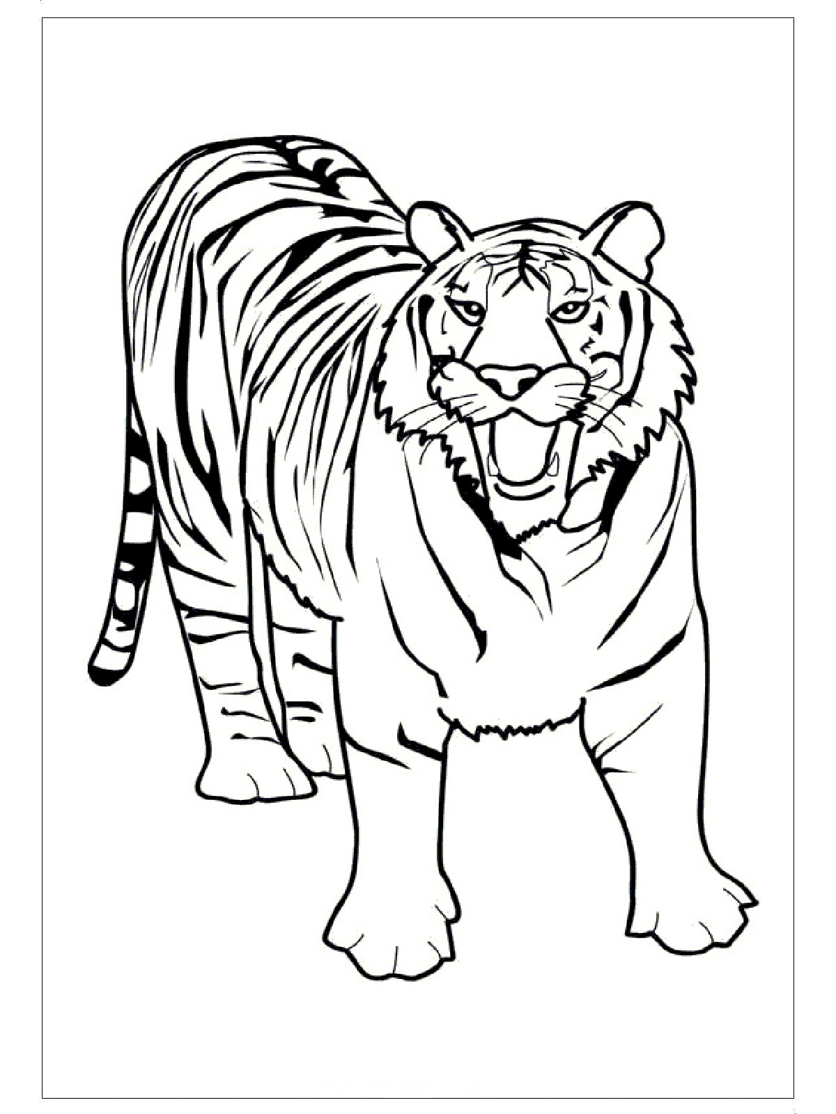 This is a picture of Vibrant Free Tiger Coloring Pages