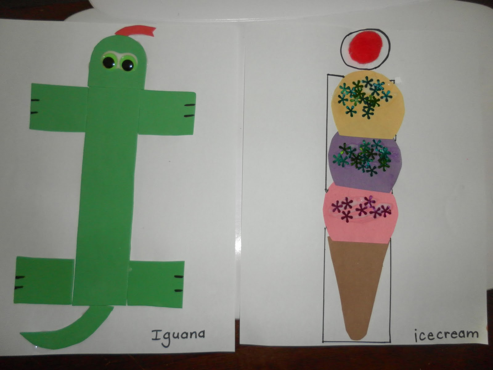 Letter i or i crafts preschool and kindergarten for Preschool art and craft