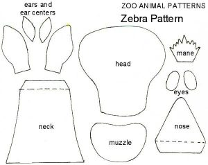 free animal zebra craft templates