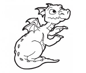 free-animals-Dragon -printable-coloring-pages-for-preschool