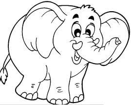 free-animals-Elephant -printable-coloring-pages-for-preschool