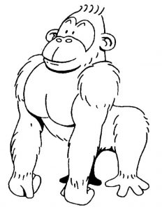 free-animals- Gorilla-printable-coloring-pages-for-preschool