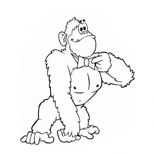 free-animals- Gorilla -printable-coloring-pages-for-preschool