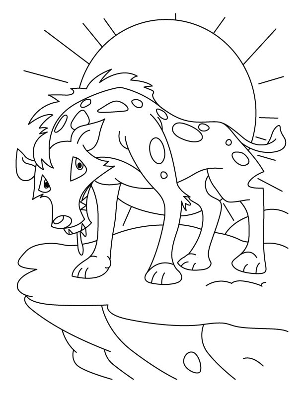free-animals- Jackal -printable-coloring-pages-for-preschool
