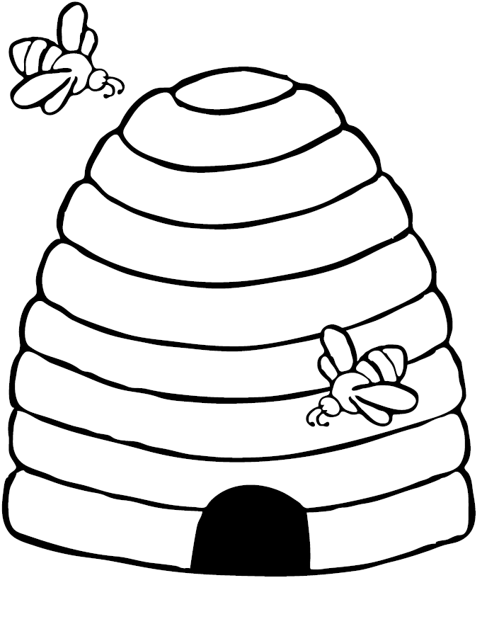 free-animals- bee printable-coloring-pages-for-preschool