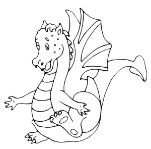 free-animals-dragon-printable-coloring-pages for preschool