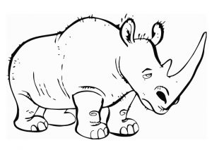 photograph about Rhino Printable titled Rhino Coloring Web pages for little one - Preschool and Kindergarten