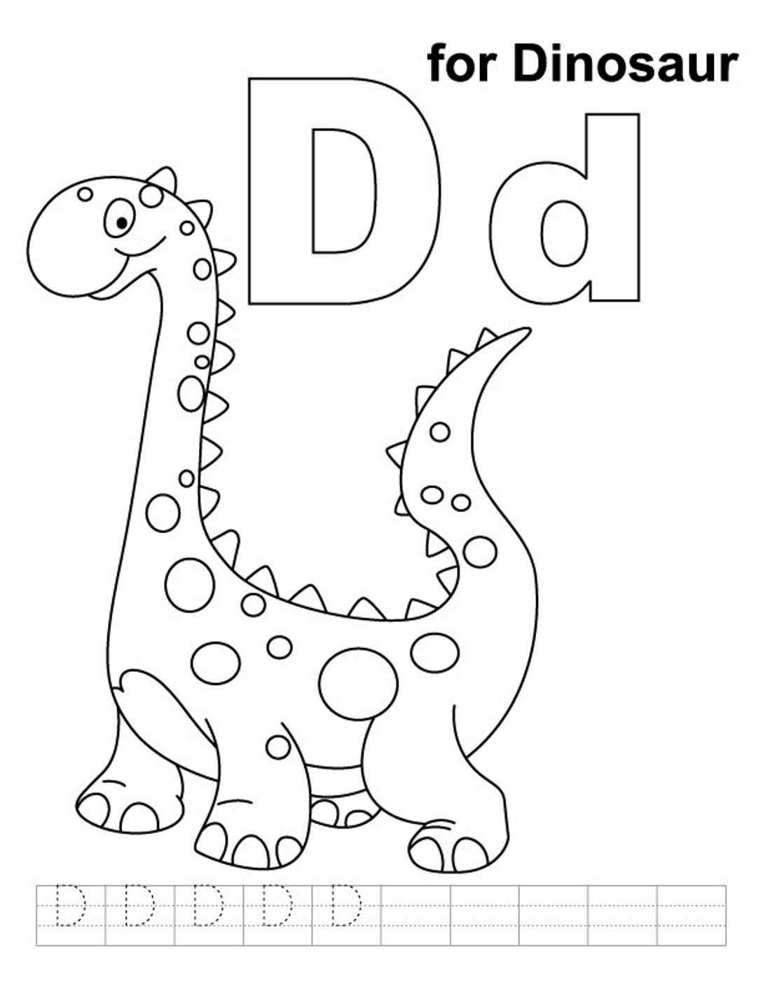 Letter D Coloring Pages - Preschool and Kindergarten