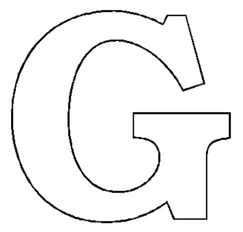 block letter g free letter g printable coloring pages for child 25226
