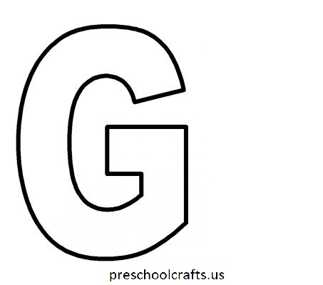 Letter G Coloring Pages - Preschool and Kindergarten