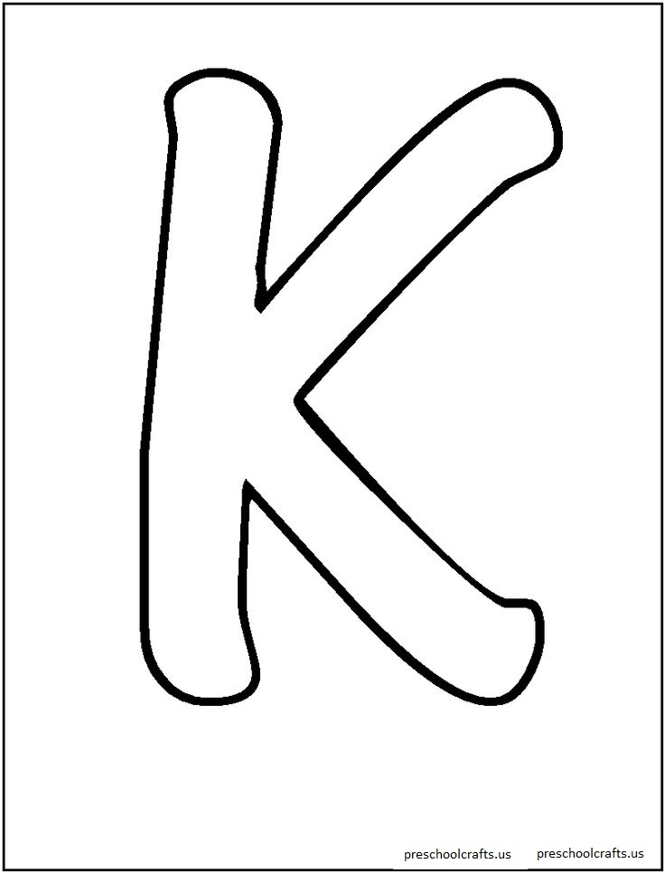 free letter k coloring pages-for preschool - Preschool Crafts