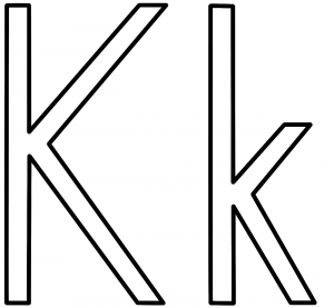 free-letter k coloring pages-for preschool