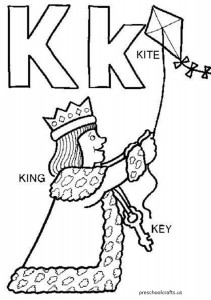 free letter-k coloring-pages for preschool
