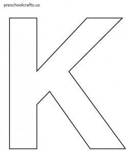 free-letter k coloring pages for preschool