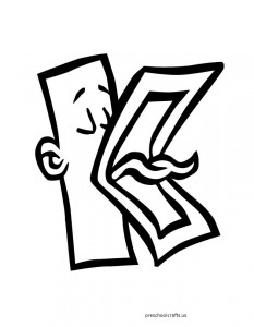 free-letter-k coloring pages for preschool
