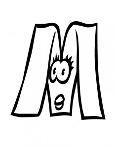 free letter-m coloring pages for preschool