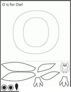 photo relating to Letter O Printable called Letter O Crafts - Preschool and Kindergarten