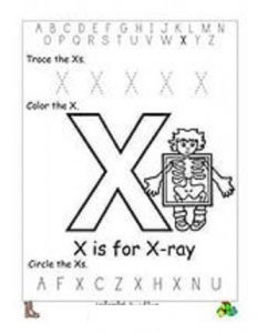 free letter x worksheets