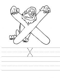 Letter X Worksheets for Preschool