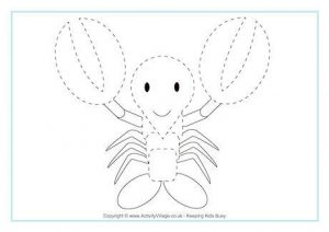 funny printable lobster coloring pages