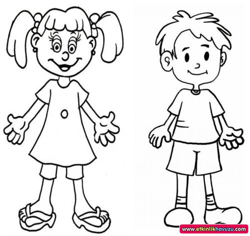 human bodies coloring pages - Preschool Crafts
