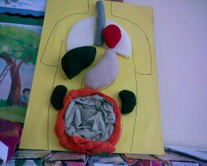 human body crafts idea for kindergarten and homeschool