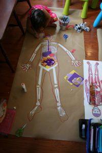 human body skeleton crafts