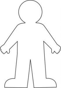 human body template for activities