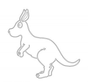 kangaroo coloring page for preschool