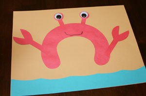 letter c crab craft for preschool Preschool Crafts