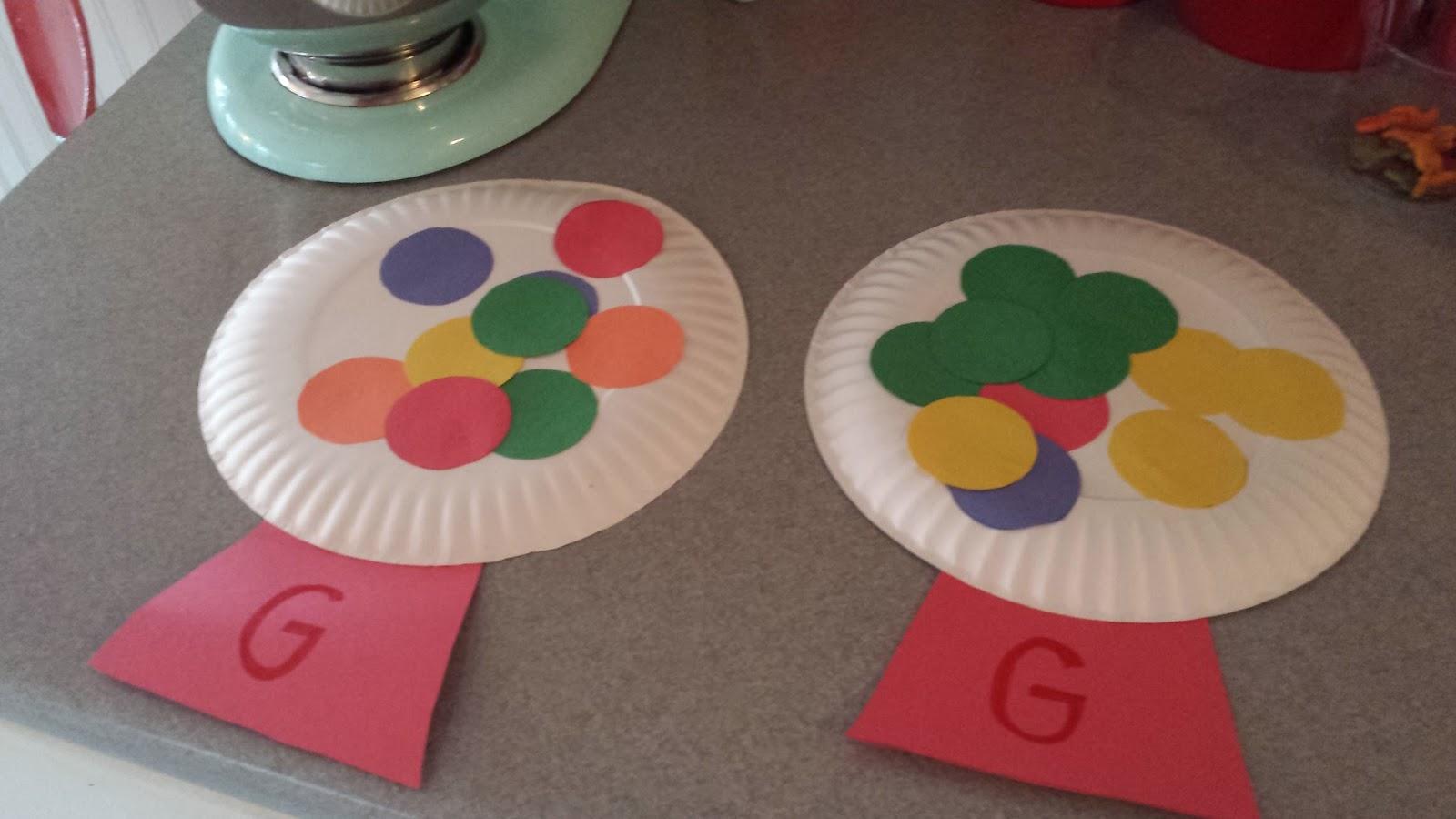 Letter g crafts preschool and kindergarten for Art and craft games