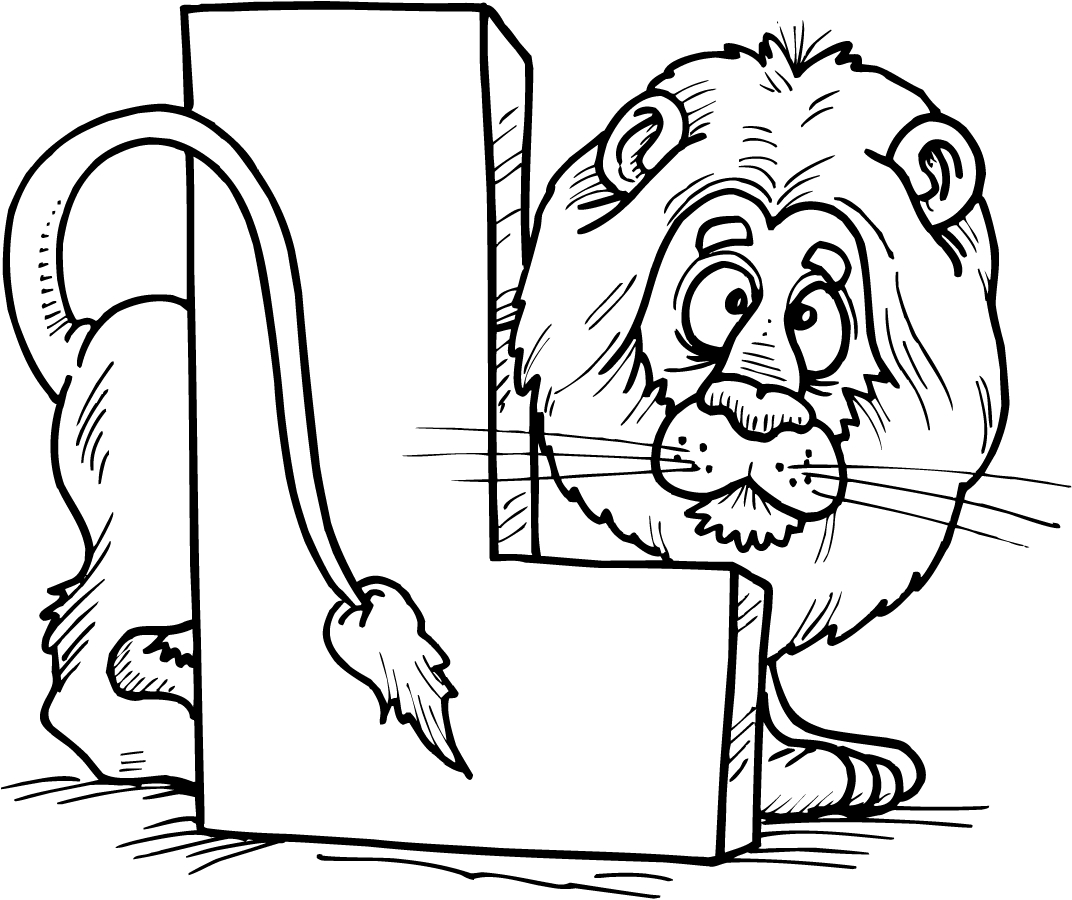 Letter L Coloring Pages - Preschool and Kindergarten