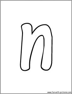 letter n-coloring-pages for preschool