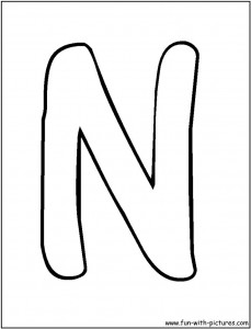 letter-n coloring pages for preschool