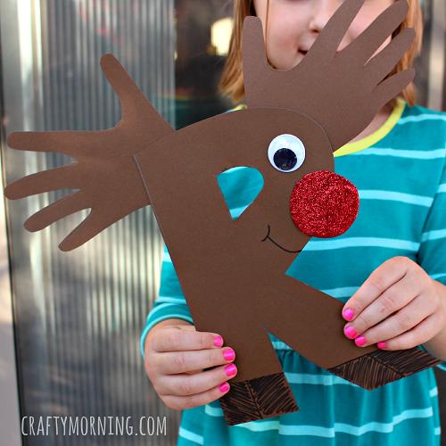 letter r is for reindeer craft for kids Preschool Crafts