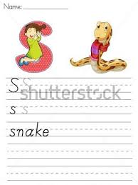 letter s worksheets for child