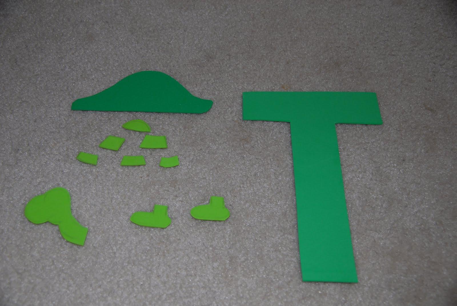 Letter T Crafts - Preschool and Kindergarten