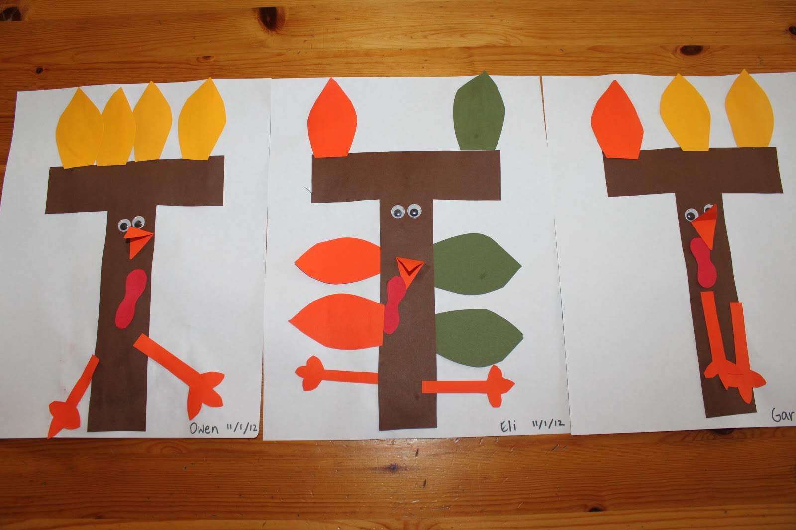 Letter t crafts preschool and kindergarten for November arts and crafts for daycare