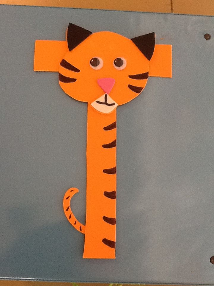 tiger craft ideas letter t crafts preschool and kindergarten 3107