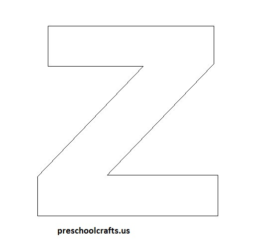 letter-z-template-for-z-craft Worksheets Clothes And Seasons on clothes flashcards, clothes steam cabinet, clothes folding table, clothes school,
