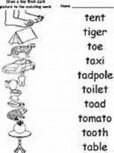 match-letter-t-worksheets