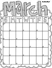 month of the year coloring pages march