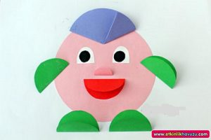 my face folding paper crafts for kids