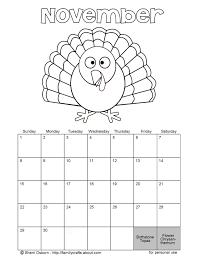 november calender coloring pages