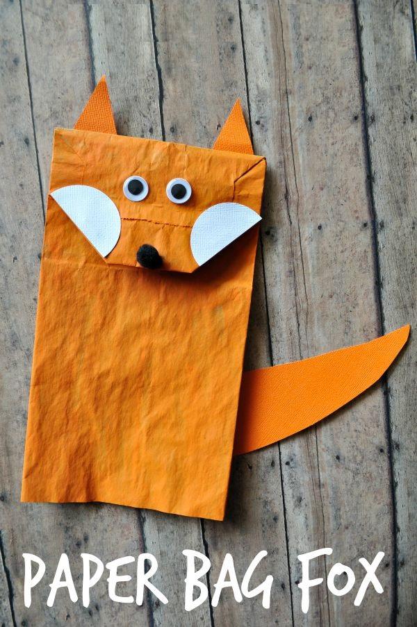 Fox Crafts Idea For Kids Preschool And Kindergarten
