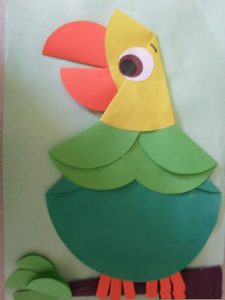 parrot paper folding crafts