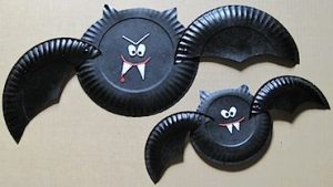 paper plate bat crafts