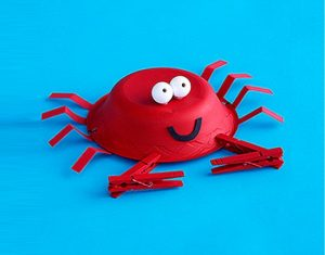 paper plate crab craft for kids